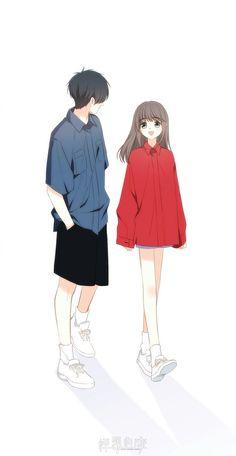 Cute Couple Drawings, Cute Couple Cartoon, Cute Couple Art, Cute Love Cartoons, Anime Couples Drawings, Anime Couples Manga, Anime Love Story, Manga Love, Manga Couple