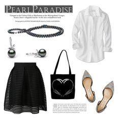 Pearl Paradise in B & W by pearlparadise on Polyvore featuring polyvore, fashion, style and Oscar de la Renta