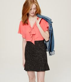 Image of Tie Neck Flutter Top