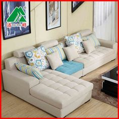 Pan Feng Busha brand new living room combination corner hit the color delicate small apartment washable fabric sofa - Taobao