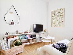 Mini piso con mucho encanto estilo femenino nórdico decoración interiores pequeños decoración de salones decoración de minipisos decoración de interiores decoración de cocinas pequeñas decoración cocinas blancas blog decoración de interiores