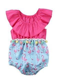 Flamingo Baby Girl Summer Romper