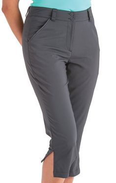 Find the best #golf outfits at #lorisgolfshoppe : Black Nancy Lopez Women's Plus Size Class Golf Capris