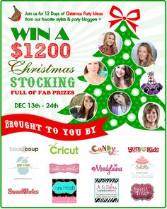 12 Days of Christmas Party Inspiration + a  $1200 Christmas Stocking full of amazing prizes!!!
