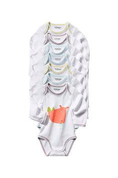 Vertbaudet Body 7-pk. 299,- Mint, Baby Car Seats, Ruffle Blouse, Rompers, Dresses, Women, Fashion, Vestidos, Moda