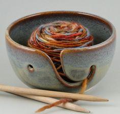 I love the idea of a yarn bowl.