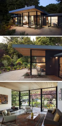 Best Ideas For Modern House Design & Architecture : – Picture : – Description Architect Ana Williamson has completed a contemporary addition to a Eichler house located in Menlo Park, California. Mid Century House, Modern House Design, Home Interior Design, Eichler House, Architecture Design, California Architecture, Design Architect, House Plans, New Homes