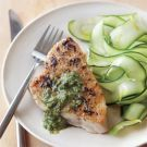 Try the Grilled Tuna with Basil-Walnut Sauce Recipe on williams-sonoma.com