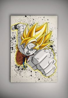 Goku Dragon Ball Anime Manga aquarelle tirage Poster par EpicShoppe