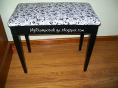 How to make a repurposed dresser bench out of an old dresser. Perfect for the kids-a bench with storage. Funky Furniture, Repurposed Furniture, Painted Furniture, Piano Stool, Piano Bench, Dresser Bench, Vanity Bench, Diy Bench, Bench With Storage