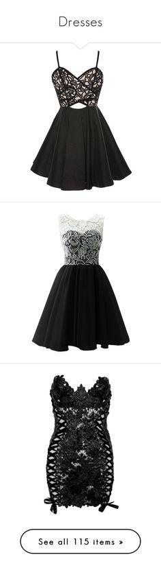 """Dresses"" by darklover02 ❤ liked on Polyvore featuring dresses, short dresses, vestidos, lace cut-out dresses, sweetheart neckline cocktail dress, lace cocktail dress, ruched dress, mini dress, black and prom dresses"