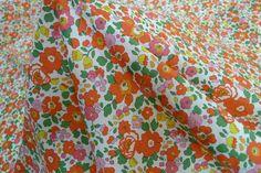 Betsy Pink - Tana Lawn - Liberty Of London - Tessuti Fabrics - Online Fabric Store - Cotton, Linen, Silk, Bridal & more