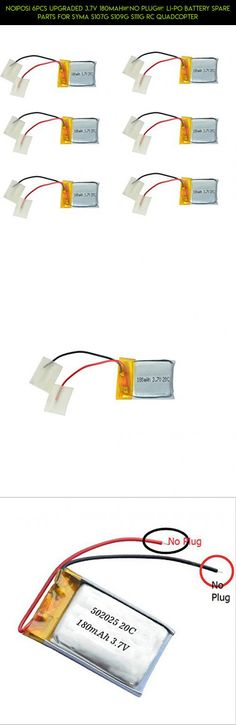 Noiposi 6PCS Upgraded 3.7V 180mAh(No Plug) Li-po Battery Spare Parts for Syma S107G S109G S111G RC Quadcopter #parts #camera #plans #syma #helicopter #racing #drone #shopping #technology #kit #battery #products #tech #fpv #gadgets