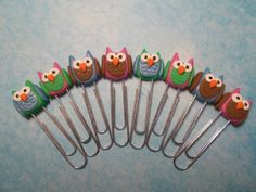 Polymer clay owl paperclip bookmark tutorial