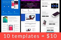 10 templates only $10 by Bootstraptor on @creativemarket