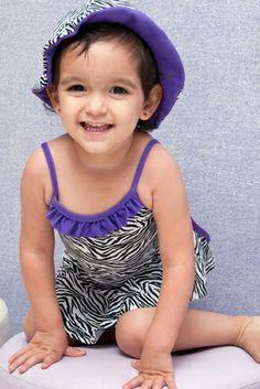 Zebra Baby One Piece - Lemons & Limes Kids Swimwear #kids #babyswimwear #babyzebra