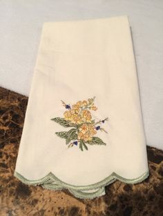 Vintage Princess House Embroidered Table Tea by KMSCollectibles