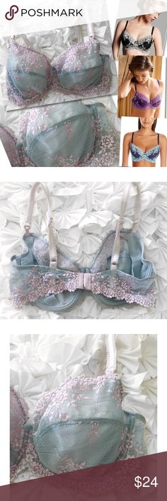 WACOAL 65191 EMBRACE BLUE PURPLE LACE BRA SZ 38D WACOAL 65191 EMBRACE BLUE PURPLE LACE BRA SZ 38D Wacoal Intimates & Sleepwear Bras