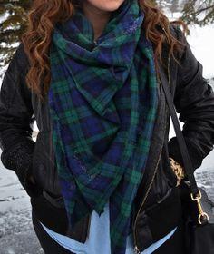 Blackwatch plaid, scarf, DIY, winter outfit // @ashtonwearsthings