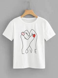 Diy Kleidung Tshirt Graphic Tees T Shirts 44 Ideen Diy Pullover, Diy Sweatshirt, Tee Shirts, Love T Shirt, Shirt Style, Tumblr Shirt, Chemise Fashion, T Shirt Painting, Tshirt Painting Ideas