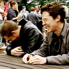How adorable are Tom & Benedict Cumberbatch here way back when filming Stuart A Life Backwards...