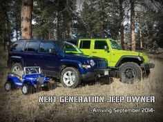Our baby/pregnancy announcement. We're a Jeep family!