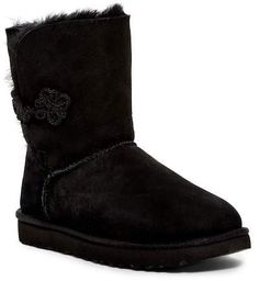 Black furr Bailey Mariko Genuine Shearling & UGGpure(TM) Lined Boot Shearling Boots, Leather Boots, Bearpaw Boots, Timberland Boots, Ugg Style Boots, Doc Martens Boots, Vegan Boots, Sheepskin Boots, Comfortable Boots