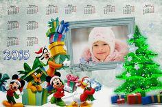 Recursos Photoshop Llanpac: Calendario del 2015 navideño de Mickey y sus amigo...