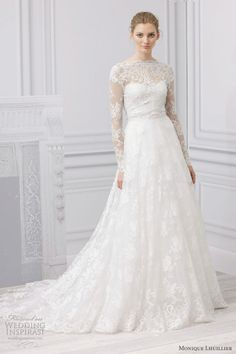 Monique Lhullier 2013 {I just want to get married in a Lhullier portrait back lace gown. That's all.}