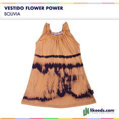 Vestido Flower Power de Bolivia #Moda #Folk #Niñas  Para ver talles y comprar ¡Hacé click en la imagen!