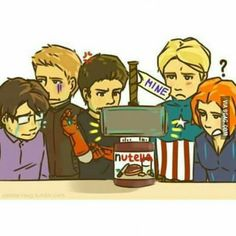 So, a few things are running through my mind. (1) Thor is hoarding the nutella, and , (2), the nutella is worthy! :O