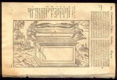 1573 BIBLIA SACRA/BIBLE LEAF/RARE/WOODCUT OF ARK OF THE COVENANT/MERCY SEAT! | eBay