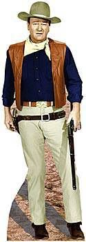 Invite the Duke to your next party! This Lifesize John Wayne Standee is free-standing and printed on one side. The cardboard John Wayne Standee is 6 ft. 2 in. high x 2 ft. 4 in. wide. Easy assembly.