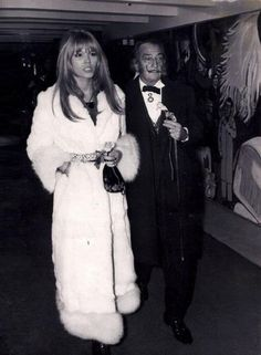 Angel of Salvador Dali Amanda Lear. Amanda Lear and Salvador Dali