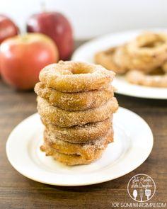 Cinnamon Sugar Fried Apple Rings