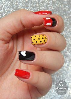 #nails #nail #fashion #style #mickey #cute #beauty #beautiful #disney #pretty #girl #girls #stylish #sparkles #styles #gliter #nailart #art #opi #mikeymouse #essie #unhas #preto #branco #rosa #love #shiny #polish #nailpolish #nailswag