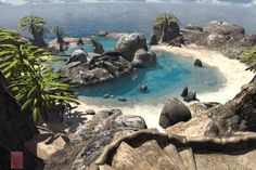 Lagoon Island from the game Riven. The Myst series is my favorite game of all time.