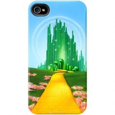 Exclusively ours, this Wizard of Oz phone case features a colorful image of the Yellow Brick Road leading to Emerald City and will protect your iPhone or Galaxy in style.