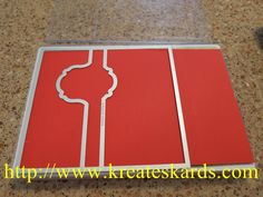Stampin' Up! Thinlits - A short tutorial on how to create a fold over section for this card.