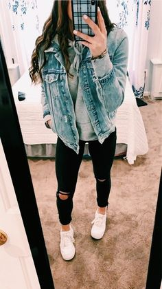 teenager outfits for school cute ~ teenager outfits . teenager outfits for school . teenager outfits for school cute Simple Winter Outfits, Winter Outfits For School, Casual School Outfits, Cute Comfy Outfits, Teen Fashion Outfits, Mode Outfits, Stylish Outfits, Spring Outfits, Stylish Clothes