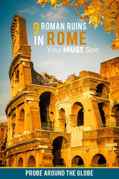 Which Ruins in Rome must be on your bucketlist? Check out the best 9 Roman Ruins in Rome that you cannot skip. I offer you practical tips on visiting, best views and free sights to see. Click on the image to read the full list of the best ancient ruins in Rome to visit. #rome #roma #romanruins #romeitaly #visitrome Backpacking Europe, Traveling Europe, Travelling, Italy Travel Tips, Rome Travel, Europe Travel Guide, Travel Ideas, Travel Inspiration, Oregon