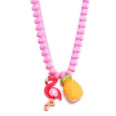Bottle Blonde Flamingo and Pineapple Necklace