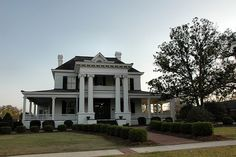 Camilla GA Baker County Neoclassical Greek Revival House Mansion Landmark Pictures Photo Copyright Brian Brown Vanishing South Georgia USA
