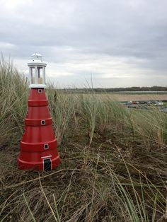 Red clay pot lighthouse, inspired by the lighthouse of Wadden Island Texel.