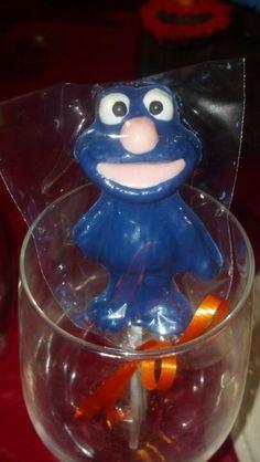 Grover chocolate sucker