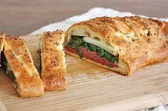Irish Bread Braid - with corned beef, cheese, potatoes and spinach.