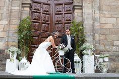Que linda Noelia! -decoración bodas-flores bodas-ramo de novia-entrada Iglesia