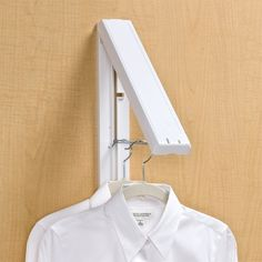 Easy hanging space for hanging freshly pressed clothes, or use when planning outfits for the day. Mounts on wall or hang from door. $20. Perfect!