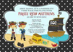 Pirate Custom Digital Birthday Party Invitation by silverscraps