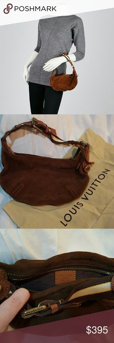 Louis Vuitton Suede Onatah PM Stylish and functional, this rare and limited edition Cacao Monogram Suede Onatah PM Bag is must-have for LV collectors everywhere. The Onatah collection was Louis Vuitton's first introduction to suede chosen by Marc Jacobs. This slouchy hobo-style creation is made of soft and supple suede that is perforated with the LV Monogram pattern. This is a unique piece to add to any LV collection.  Worn only a few times, excellent condition! Louis Vuitton Bags Hobos